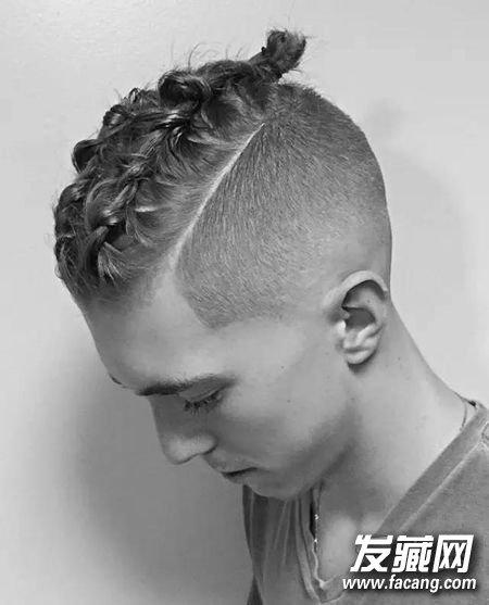 手绘发型正面男生