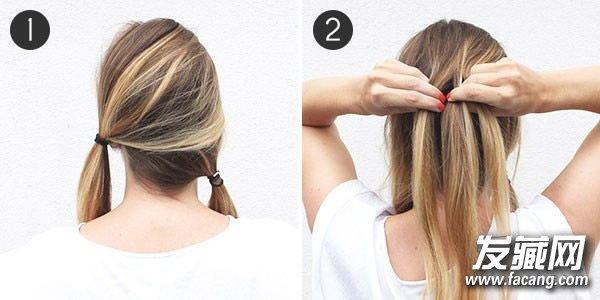 简单快捷的长发扎法图解 辫子斜一点更好看 长发辫子发型扎法