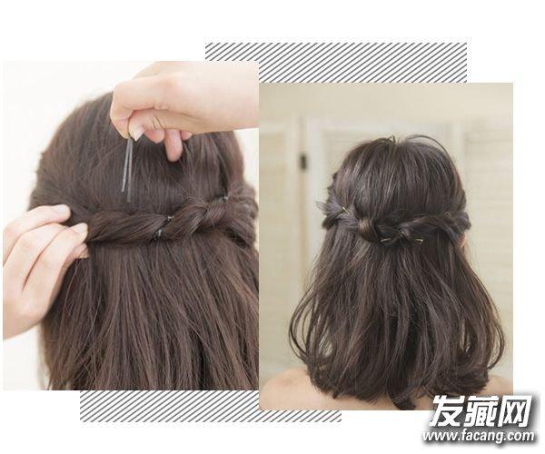 刘海编发VS半丸子头你怎么选 头发扎发大全 4