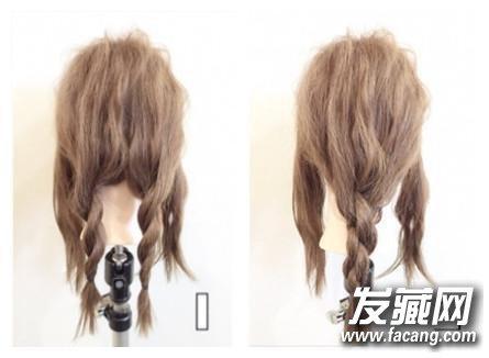 整个头发都是用最简单的 →中长发不知道怎么扎 中长发编发教程