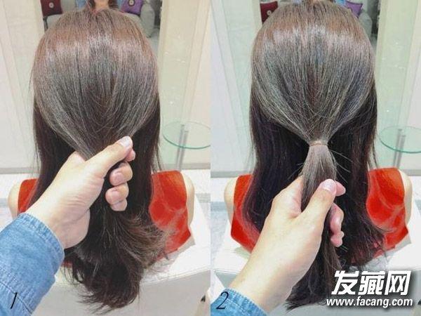 夏季怎么盘头发好看 低丸子头扎法(3)