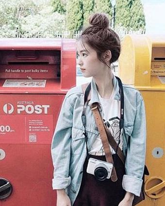 韩系花苞头扎法图解 最适合小清新美女!