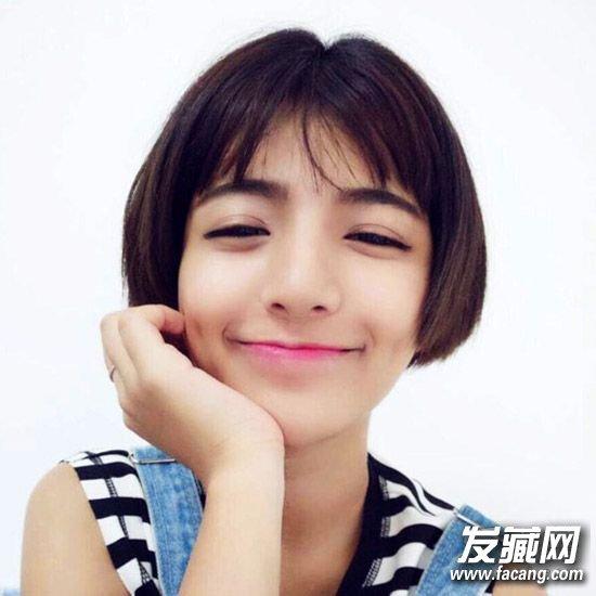 发质粗硬的女生比较适 →短发发型图片 变女神只需一款短发!图片