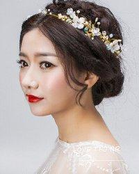 【图】唯美浪漫的新娘盘发发型2016新款式