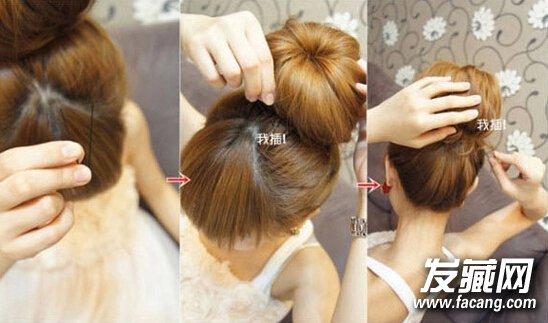 图解甜甜圈盘发器的使用方法 好看丸子头花苞头造型