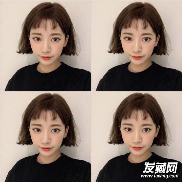 →韩式斜刘海修剪方法图解