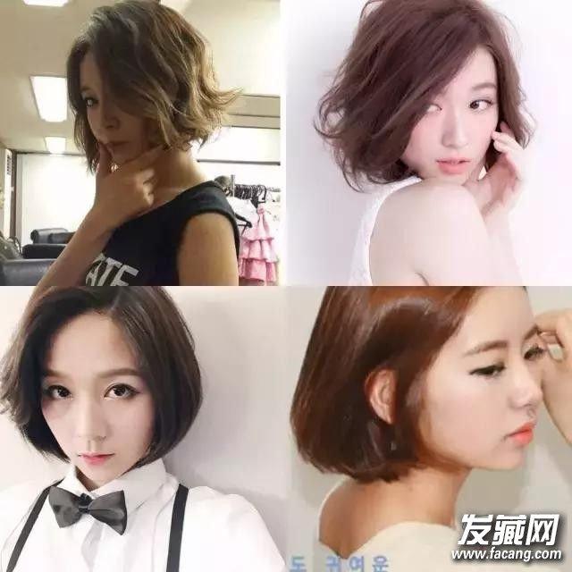 谁说你的短发绝缘体 圆脸剪短发试试这些款! 圆脸适合的短发图片
