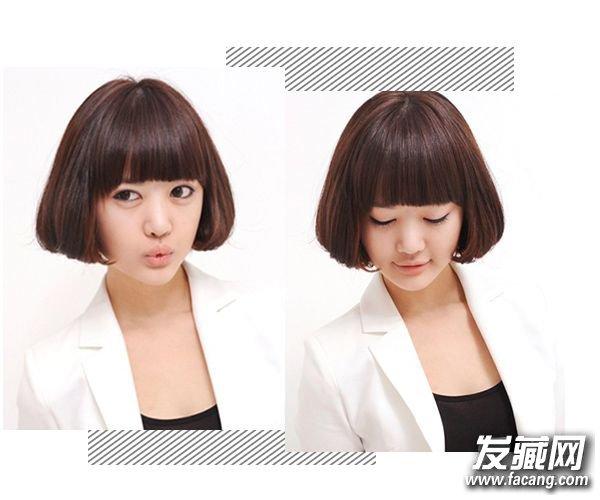 可爱感翻倍的齐刘海短发 我想你也需要一款 齐刘海短发图片