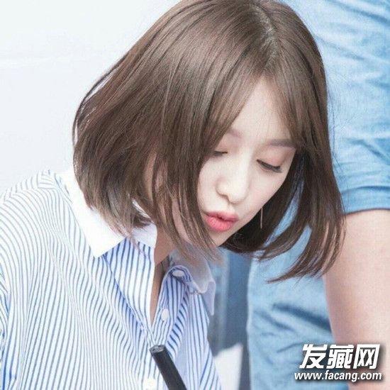 清新可爱的齐刘海发型 没有一款美美的发型怎么行