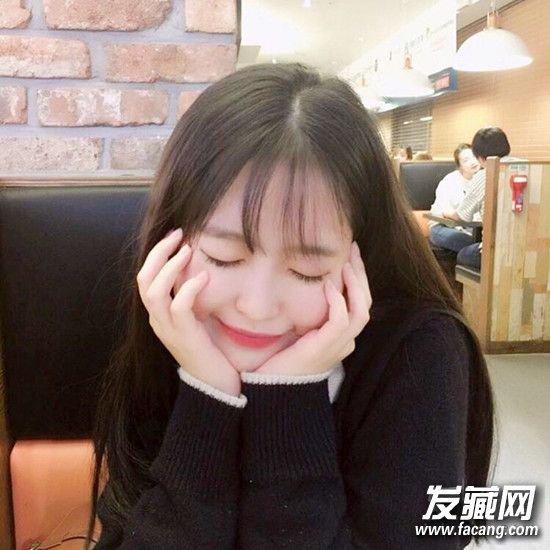 清新可爱的齐刘海发型 没有一款美美的发型怎么行(2)