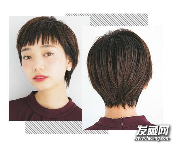 在加上棕色 染发 就完美了,简单中带时尚,又炒鸡好打理的,短发控可以图片