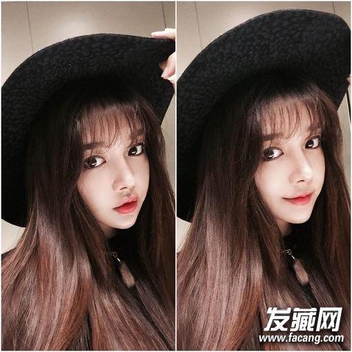 韩式栗棕色发色 2017年女生发型流行什么颜色?图片