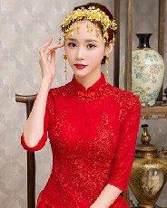 五款极具古典美的中式新娘盘发发型