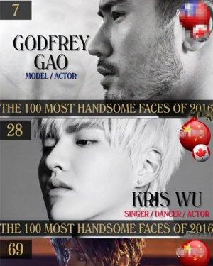 2016全球百大最帅面孔 中国第一帅高以翔发型图片