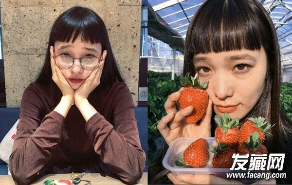 塌鼻子适合的刘海发型 →圆脸jolin小姐姐刘海造型 →金泫雅泡面