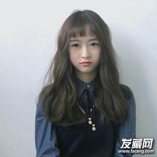 萌妹必备的刘海发型 平刘海 肉肉脸真心可爱!(4)