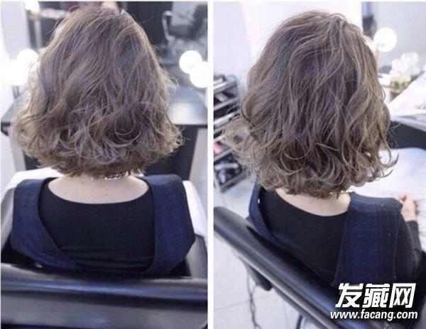 流行短发卷发图片分享齐肩短发卷发