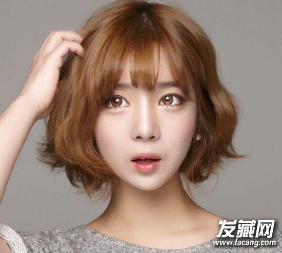 韩国妹子的小短发,小
