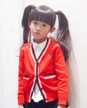 陆毅女生双马尾超萌 示范5岁女孩可爱发型