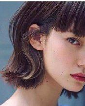 2021短发发型图片女 带层次的齐肩短发发型